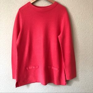 Talbots Cotton Sweater Ribbed Knit Pink XL